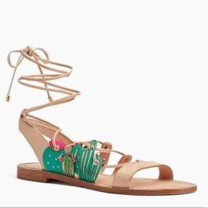 NWOB Kate Spade Cactus Lace Up Salina Sandals - 6